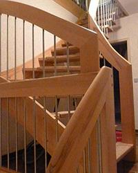 10d WangenBolzen Treppe Massivkernbuche